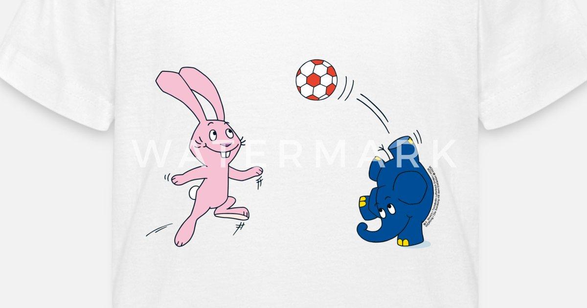elefant und hase  fussball kinder tshirt  spreadshirt