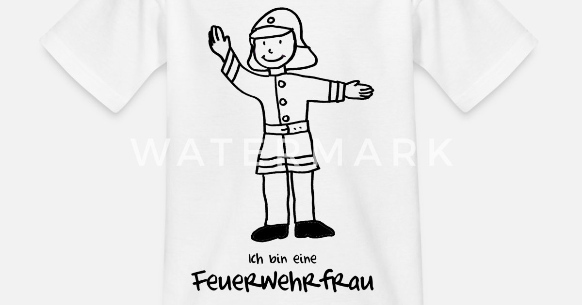 Feuerwehrfrau Zum Ausmalen Kinder T Shirt Spreadshirt
