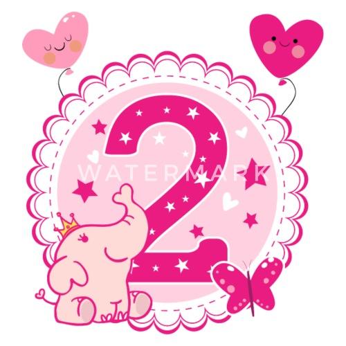 Tweede Verjaardag 2 Geburtstag Twee Jaar Meisje Kinderen T Shirt