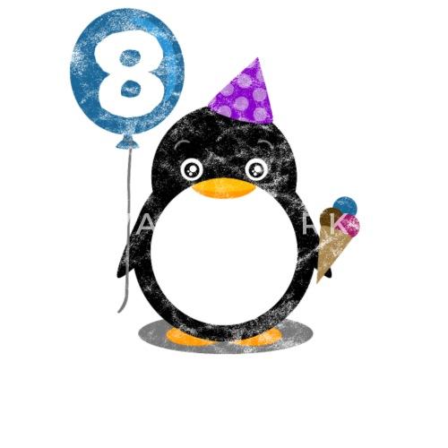 8ste Verjaardag Kind Penguin Acht Jaar Gift Kinderen T Shirt