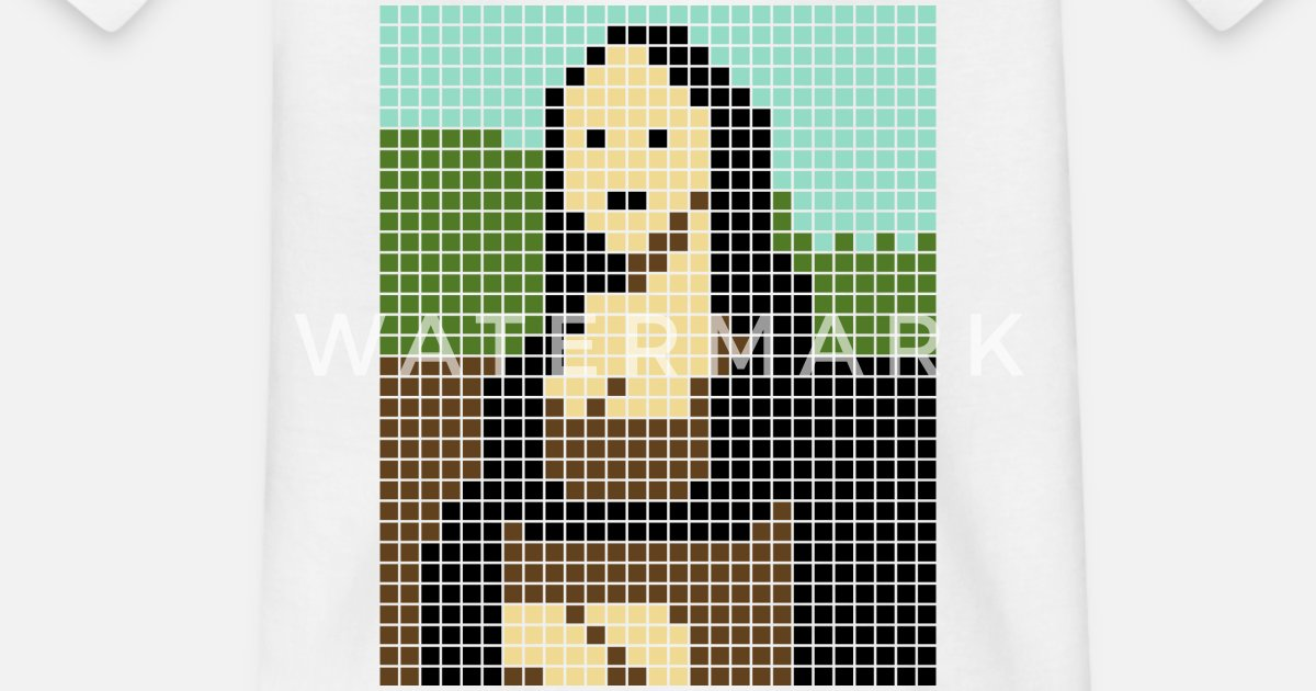 Monalisa Pixel Art T Shirt Enfant Spreadshirt