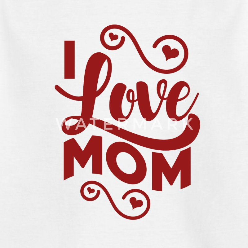I love Mum - Cute kids shirts, bodysuits and bibs - Kids' T-Shirt