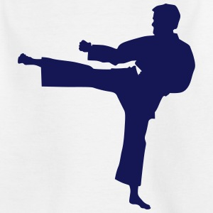 Karate fighter silhouette 7 - T-shirt Enfant