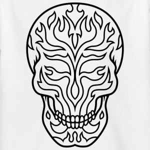 Flaming sugarskull - Kinder T-Shirt