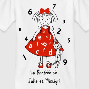 The return of Julie and Mistigri - Kids' T-Shirt