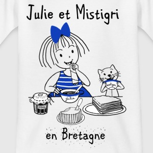 Julie and Mistigri in Brittany - Kids' T-Shirt