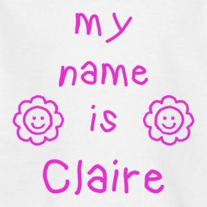CLAIRE MY NAME IS - T-shirt Enfant