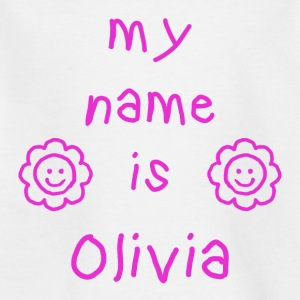 OLIVIA MY NAME IS - T-skjorte for barn