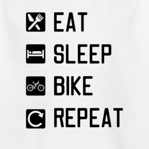 EAT SLEEP BIKE REPEAT - Kids' T-Shirt