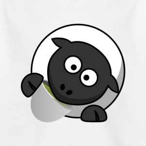 Sheep with a cup in her mouth - Kids' T-Shirt