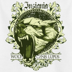 insignier ulv canis lupus - Børne-T-shirt