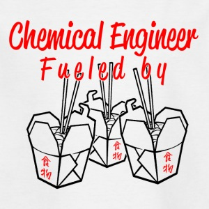 Chemical engineer fueled by china food - Kids' T-Shirt
