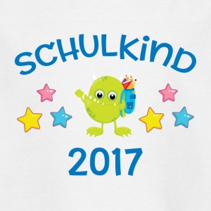 Schulkind 2017 - Monster - Kinder T-Shirt