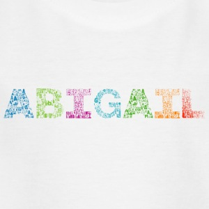 Abigail Letter Name - Kinder T-Shirt