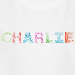 Charlie Letter Name - T-skjorte for barn