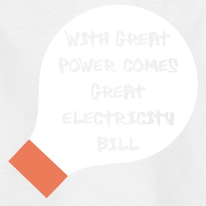 Elektriker: With great Power comes great - Kinder T-Shirt