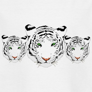 Tiger, white tiger, tiger trio - Kids' T-Shirt