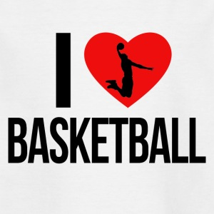 I LOVE BASKETBALL - Kids' T-Shirt