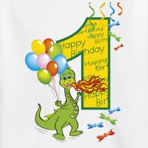 First birthday 1 with dragon - Kids' T-Shirt