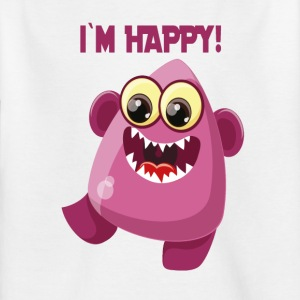 Jeg er glad monster - ordsprog Monster Collection - Børne-T-shirt