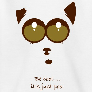 Be cool and poo - Kinderen T-shirt