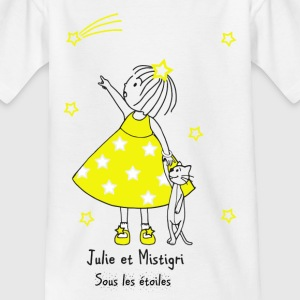 Julie and Mistigri under the stars - Kids' T-Shirt