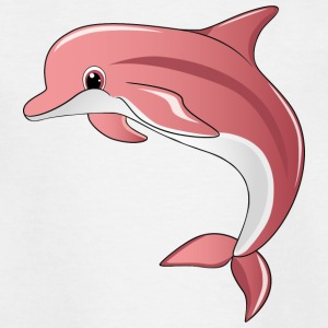 søt rosa delfin - T-skjorte for barn