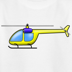 Helicopter yellow - Kids' T-Shirt