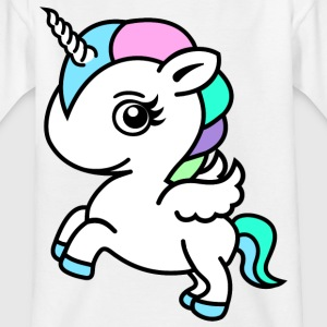 Fargerik Unicorn - T-skjorte for barn