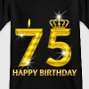 75 - happy birthday - birthday - number gold - Kids' T-Shirt