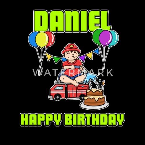 Geburtstag Feuerwehr Daniel Geschenk Birthday Von Teexcited