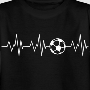 Heartbeat football - Kids' T-Shirt