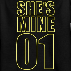 Mine Shirt - paar overhemd - Partner overhemd - Family - Kinderen T-shirt