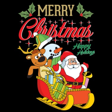 64cd86d3878afe Kerst Santa Claus sneeuwpop rendieren Xmas - Kinderen T-shirt