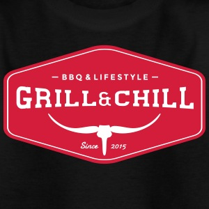 Grill and Chill / BBQ en Lifestyle Origin Logo - Kinderen T-shirt
