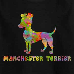 Manchester Terrier Multicolor - Kinder T-Shirt