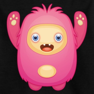 Pink cuddly monster - Kids' T-Shirt