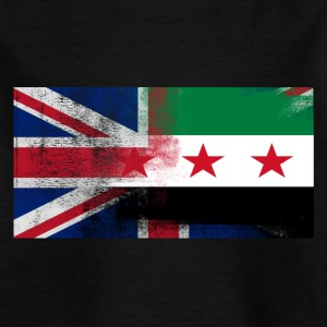 British Syrian Half Syria Half UK Flag - Kids' T-Shirt