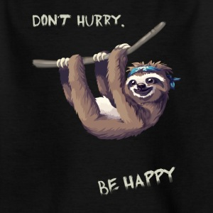 depend sloth chilling fun humor nerd slowly l - Kids' T-Shirt