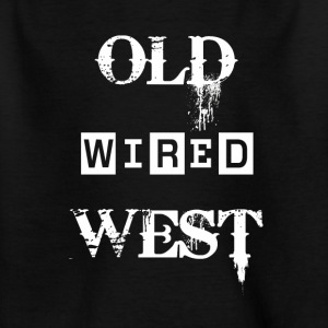 Old wired west White - Kids' T-Shirt