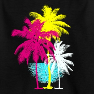 Palmen Florida Miami Retro Karibik Sonne Hawaii ur - Kinder T-Shirt