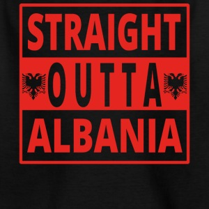 Straight Outta ALBANIA Albania - T-skjorte for barn