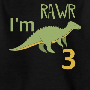 For the 3 birthday for boys girls Mosasaurus - Kids' T-Shirt