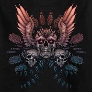 Mechanical Skull + Wings - Kids' T-Shirt