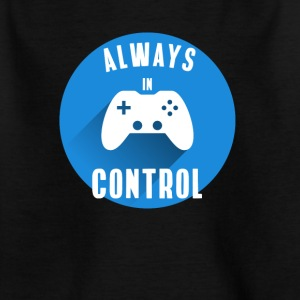 Alt under kontrol konsol knappen Play Station - Børne-T-shirt