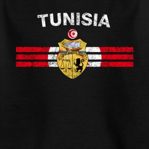 Tunisian Flag Shirt - Tunisian Emblem & Tunisia Fl - Kids' T-Shirt