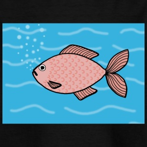 Pink fish - Kids' T-Shirt