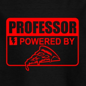 professor powered by pizza - Kinder T-Shirt