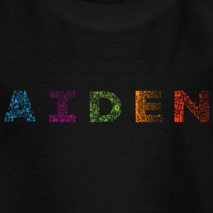 Aiden Briefname - Kinder T-Shirt