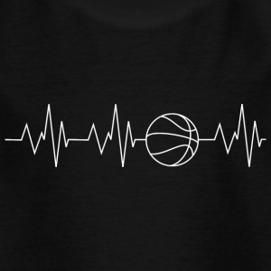 Heartbeat Basketball - Kinder T-Shirt